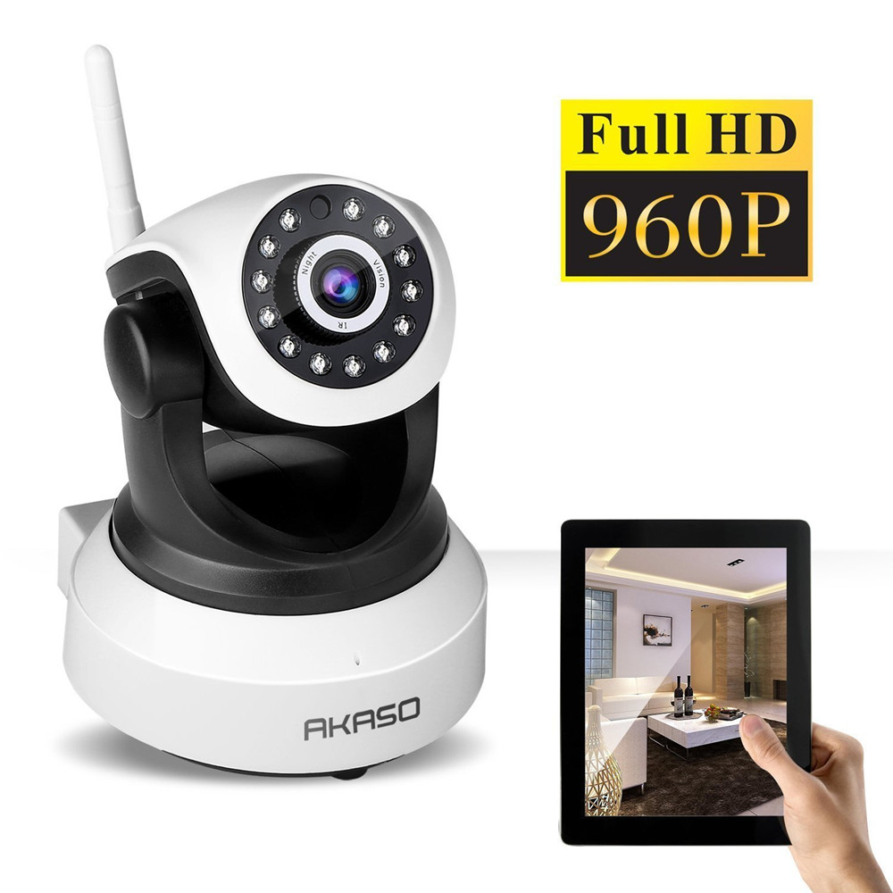 akaso hd 960p wireless ip camera wifi onvif video surveillance security cctv network wi fi. Black Bedroom Furniture Sets. Home Design Ideas