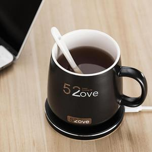 Image 2 - Akıllı kablosuz ısıtma kahve kupalar ev ofis kararlı 55 santigrat süt kupa kahve fincanları kablosuz şarj cihazı ile