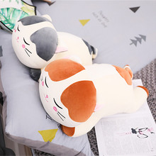 60CM Creative Christmas Plush Cat Toys For Children Soft Stuffed Down Cotton Pillow Cartoon Animal Kids Baby Doll Birthday Gift