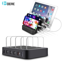 DCAE Charging Station with QC 3.0 Quick Charge HUB Dock Organizer For Apple iPhone iPad Samsung Multi Device 4 Port USB Charger