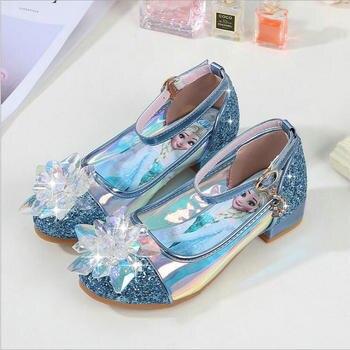 Nova Primavera Sapatos Crianças Princesa Meninas Lantejoulas Festa de Casamento Meninas Crianças Sandálias Sapatas de Vestido para As Meninas Da Escola Tamanho DA UE 26 -36