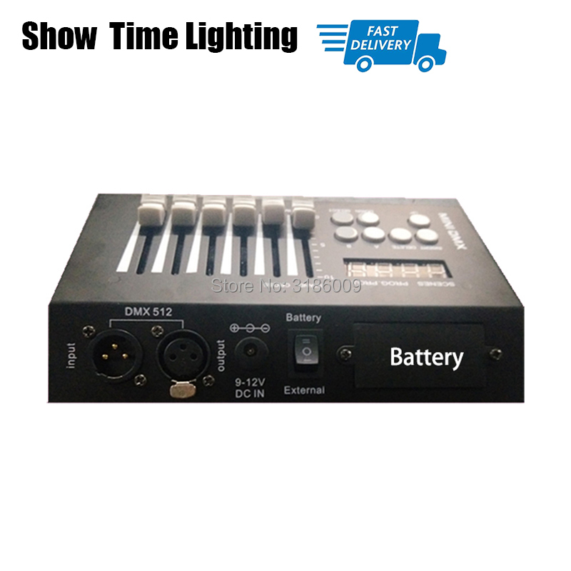 Fast delivery MINI DMX 54 Controller with battery Stage Lighting DJ Equipment Dmx Console easy to carry mini controller led par in Stage Lighting Effect from Lights Lighting
