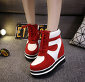 Free shipping new fall shoes slope with lace invisible female casual shoes