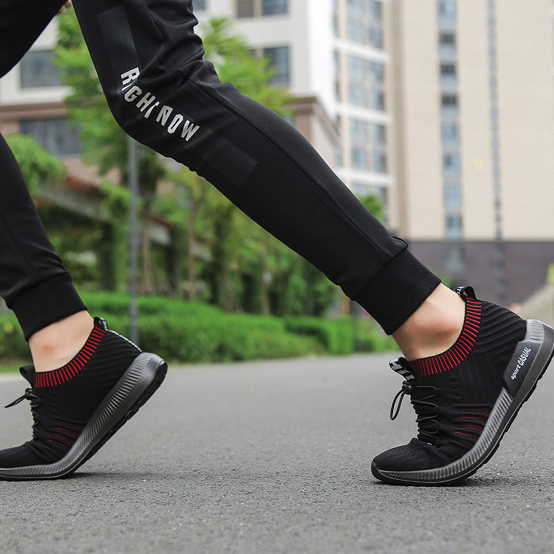 Фото Brand Summer Men Socks Sneakers Beathable Mesh Male Casual Shoes Lace up Sock Shoes Loafers Boys Super Light Sock Trainers