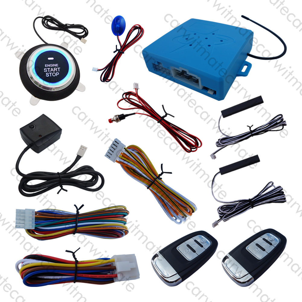 Universal PKE Car Alarm System Vibration Alarm Keyless Entry Push Start Remote Start Stop Engine Induction Lock Car universal pke car security alarm system with remote engine starter start stop push button passive keyless entry starline
