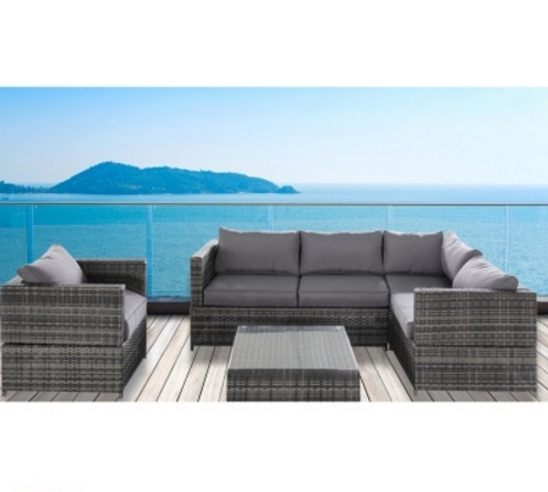 New Arrival Comfortable Patio Furniture Garden Bistro Couch Sets Rattan Sofas