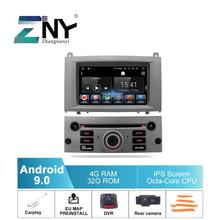 """7 """"ips 안 드 로이드 9.0 자동차 dvd gps 푸조 407 2004 2010 멀티미디어 라디오 fm rds wifi 무료 carplay dvr 리버스 카메라지도 도구"""