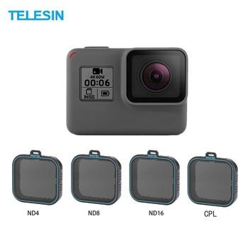 Telesin 4 パック fiter セット nd レンズプロテクターフィルター (ND4 8 16)+ cpl フィルター移動プロヒーロー 5 ヒーロー 6 ブラックヒーロー 7 カメラ accessoreis