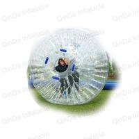 2.5m diameter Inflatable Human Hamster ball inflatable zorb ball bumper bubble ball for bowling outdoor game