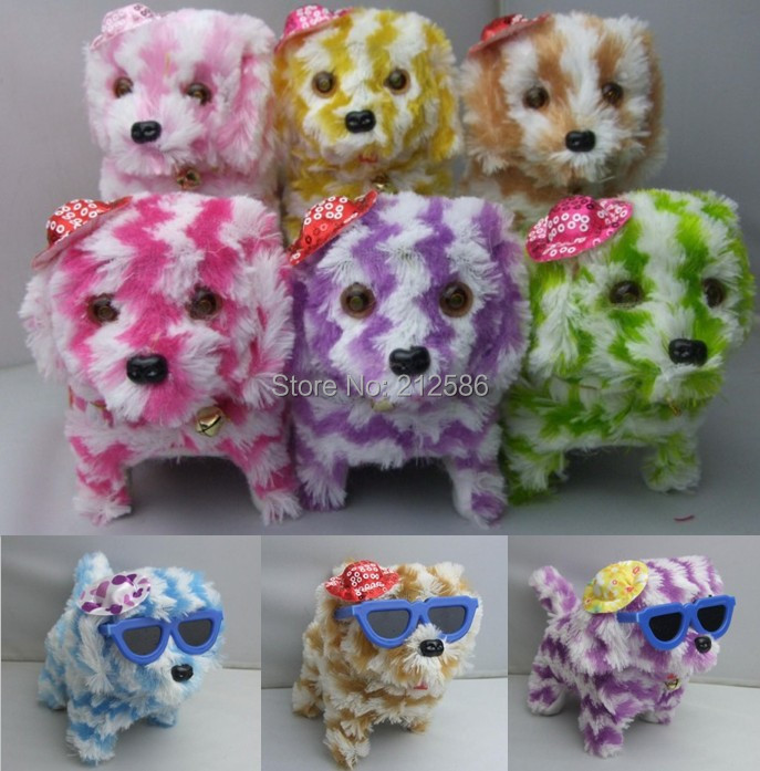 Dog Toys For Boys : Colorful electronic dog barking plush toys for kids boys