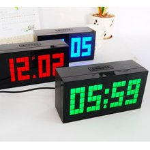 Modern Design Large Led Digital Alarm Clock For Gym Show Time Calendar Temperature Table or Wall