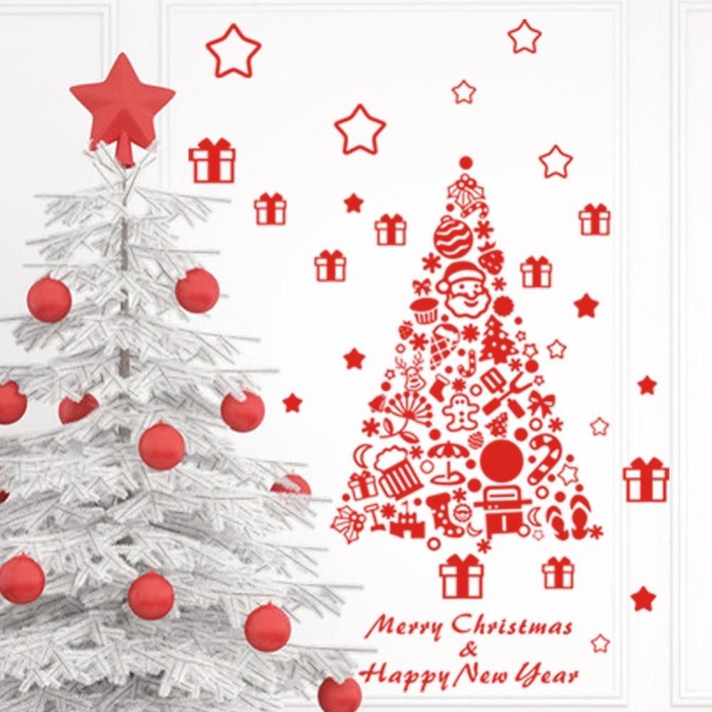 Xmas Christmas Decoration DIY Christmas Trees Vinyl Wall Window - How to make vinyl decals for windows