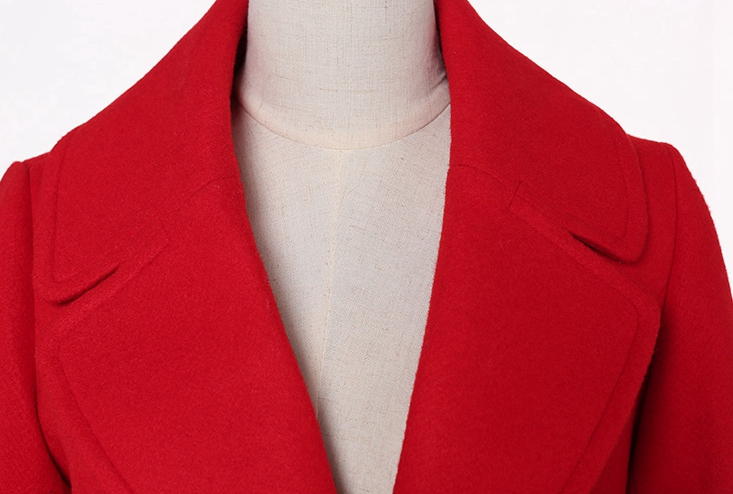 Red Green Couleur Femmes Et Poitrine Black Laine Unique army Solide Mode Long Jaacket De D'hiver deep X692 Automne Manteau 2018 Nouvelles red Slim 4pqBgpw