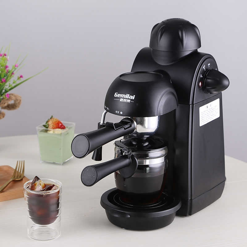 Gemilai Household Mini All Semi-automatic Coffee Machine Italian Grinding  Steam Pot Type Espresso Maker Cappuccino Milk Foam