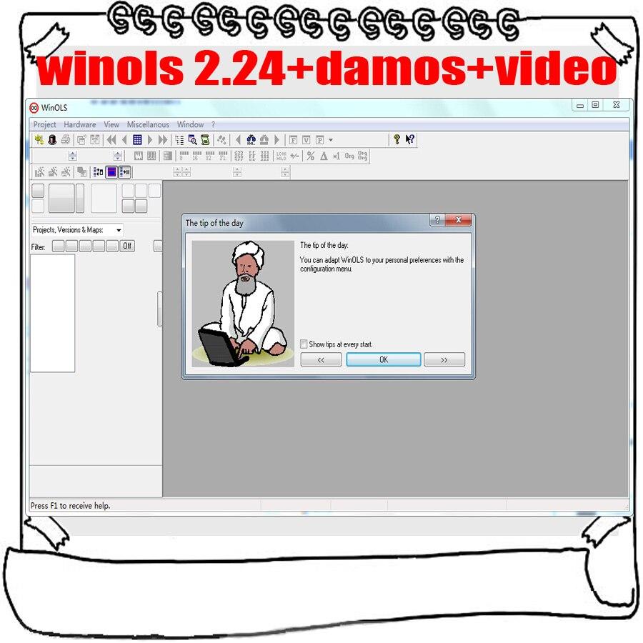Winols 2.24 + Unlock patch + Damos files + Video + User Manual + Ecm  titanium