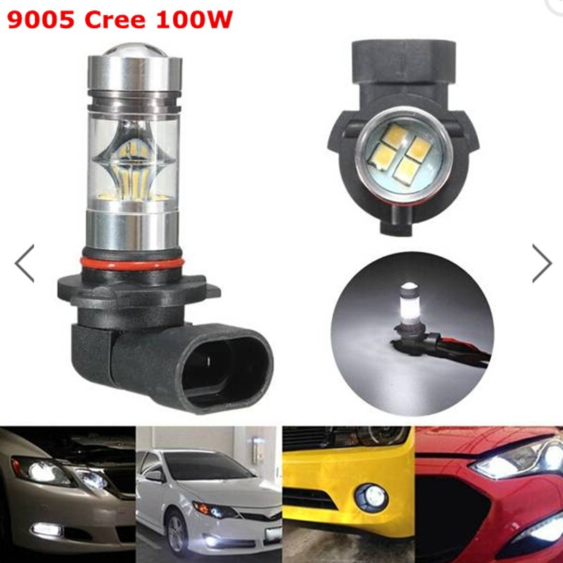 2x 9005/9006 HB3 HB4 100W LED 20-SMD Cree Chips Projector Fog Driving DRL Light Bulbs White - yobuyyowin Foryouoptical Store store