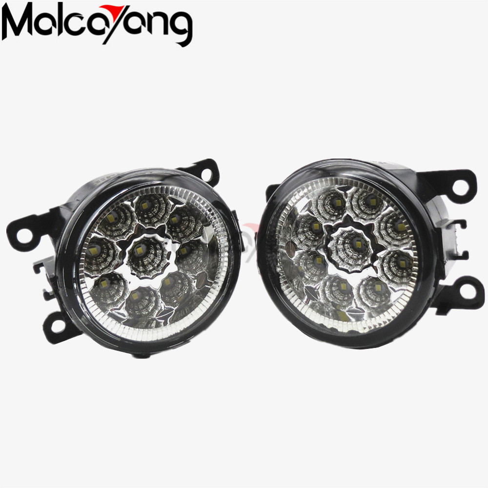 2 Pcs/Set For Renault LOGAN Saloon LS 2004-2015 Car styling CCC E2 LED Fog Lamps DRL Lights 2pcs car styling round front bumper led fog lights high brightness drl day driving bulb fog lamps for toyota avensis saloon t25