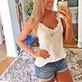 ZANZEA Sexy Women Summer Style Tank Tops Lace Casual Slim Ladies Camis White Black Backless Shirt blusa Regata Size S-5XL