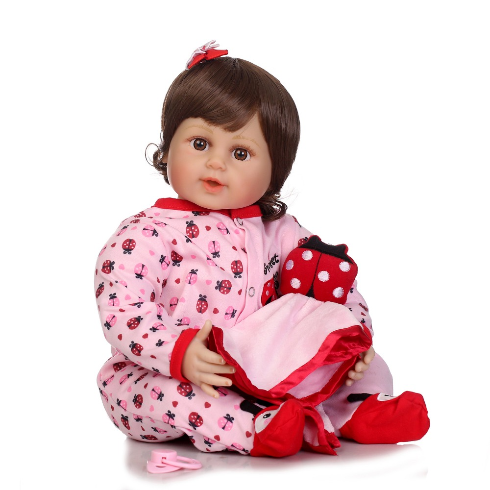 NPKCOLLECTION free shipping reborn bebe dolls soft real vinyl silicone touch silicone reborn baby gift toys on children Birthday