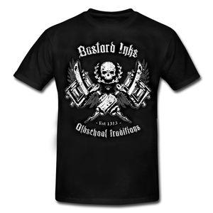 Летняя новая Мужская хлопковая футболка OLDSCHOOL, особая серия, Байкерский стиль с мотивами рокабилли, футболка с o-образным вырезом