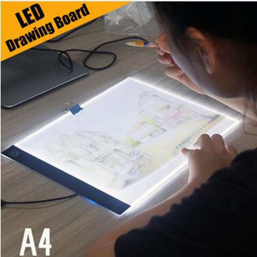 Ultra-thin LED A4 Light Box Display Pad Drawing Board Stencil Artist Art Tracing