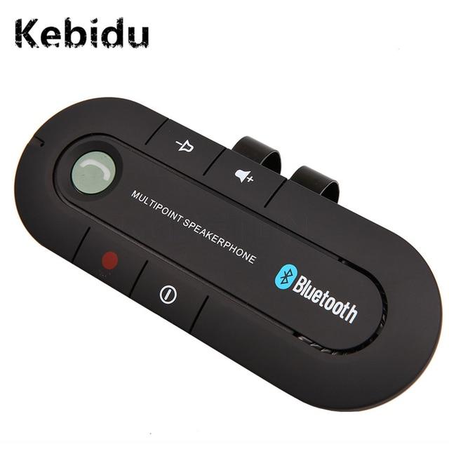 Kebidu بلوتوث 4.1 متعدد النقاط مكبر الصوت مشغل MP3 باس ستيريو AUX سيارة عدة سماعة لا يدوية جهاز استقبال للموسيقى لاعب