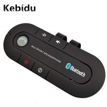 kebidu Bluetooth 4.1 Multipoint Speakerphone MP3 Player Bass Stereo AUX Car Kit Speaker Handsfree Music Receiver Player