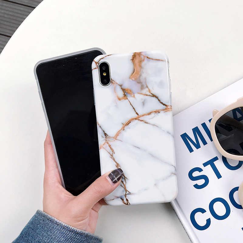 Marbre X étuis pour iphone X XS Max étui souple coque arrière en TPU pour iphone XS XR iphone 8 7 6 6S Plus housse de téléphone