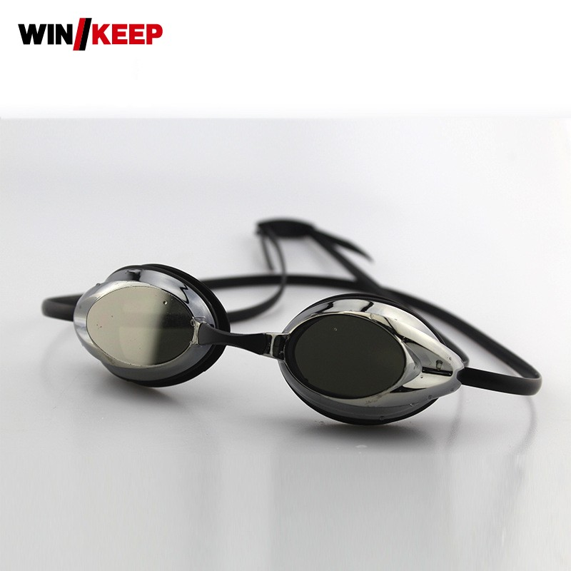 2018 New Arrival Men Goggles Swimming Professional Arena Game Black Comfortable Diving Swimming Pool Goggles Adult Free Size