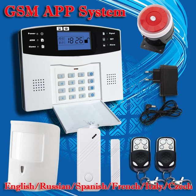 !Up G4B PSTN GSM English Russian Spanish Voice wireless wired LCD APP intercom Home Burglar Security alarm system