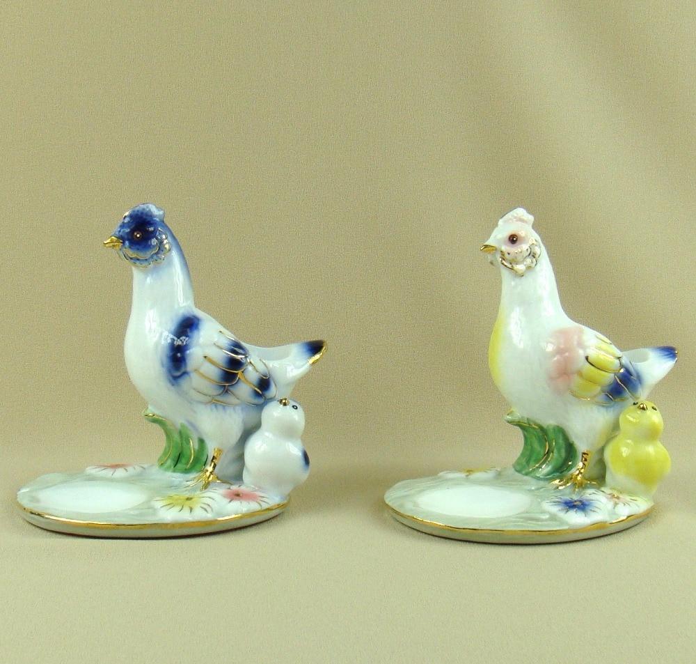 Porcelaine poule et poussin Figurine bijoux organisateur plat ornemental céramique germes stockage Caddy nouveauté décoration artisanat