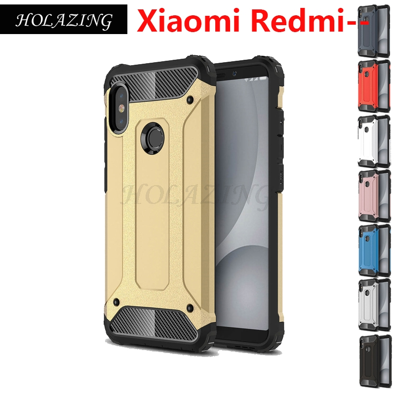 Rüstung Anti-Knock Heavy Duty Shock Schutz Fall für Xiaomi Redmi Hinweis 6 Pro 6A 4X Hybrid Abdeckung Redmi hinweis 5 Plus S2 5A Pro 4A