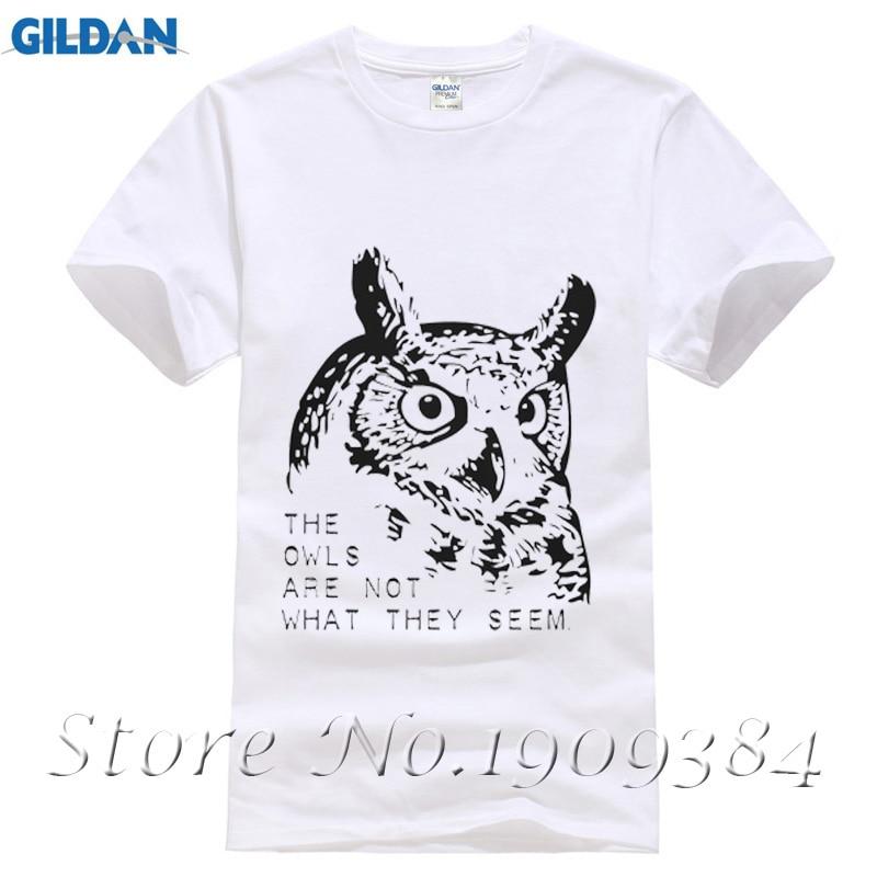 Twin Peaks The Owl New Fashion Man T-Shirt Cotton O Neck Mens Short Sleeve Mens tshirt Male Tops Tees Wholesale