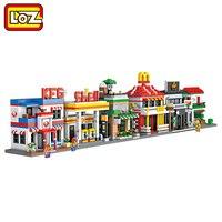 LOZ Mini Street Town Mini Blocks 3D Model Retail Store Shop Cafe McDonald Educational Toy Child Adult Toys