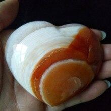 1 قطعة الطبيعية الأحمر العقيق القلب النخيل ألعوبة hoime الديكور الأحجار بلورات استشفاء