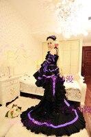 Custom Chobits Chii Cosplay Lolita Ball White Pink Black Pink Lolita Dress