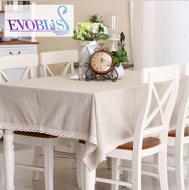 Natural Solid Tablecloths For Square Tables Manteles De Mesa Rectangular  Table Textile Lace Table Cloth Toalhas