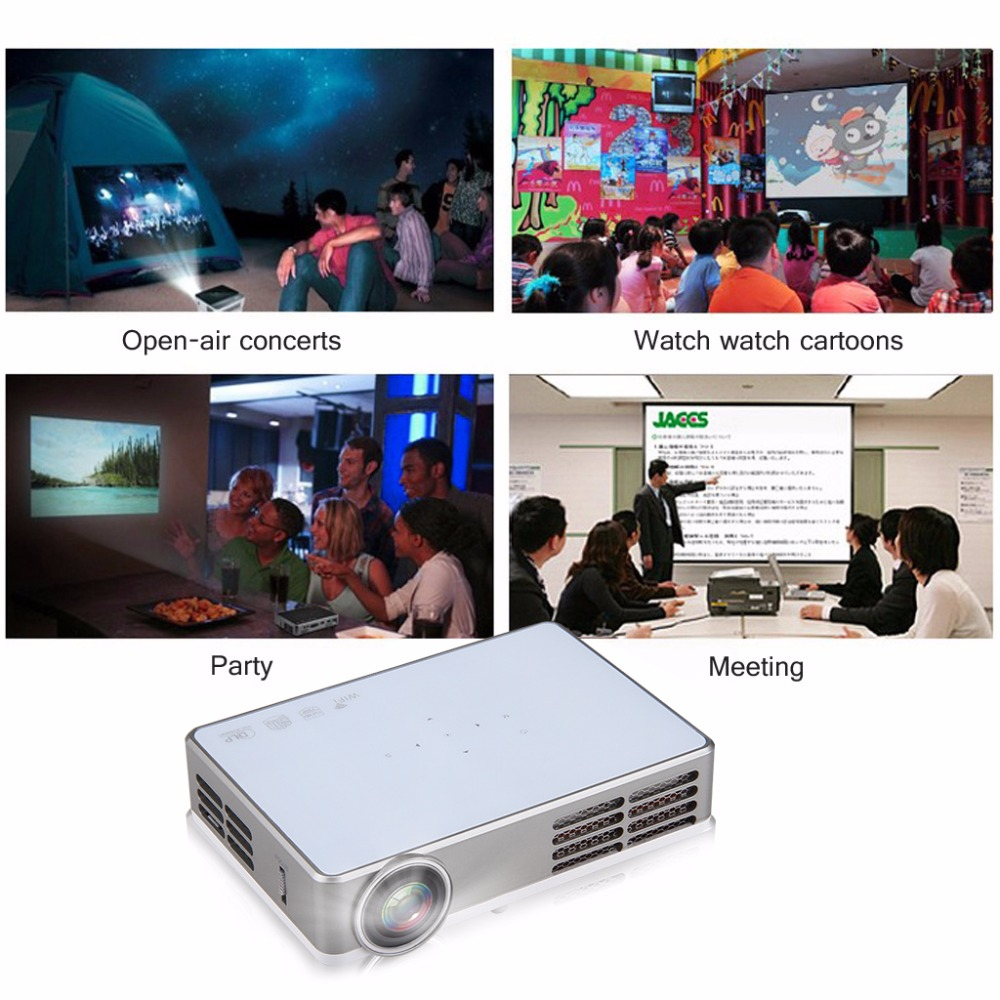 Excelvan LED9 Portable WiFi Mini Projector Android4.4 LED DLP Projector With  ( (7)
