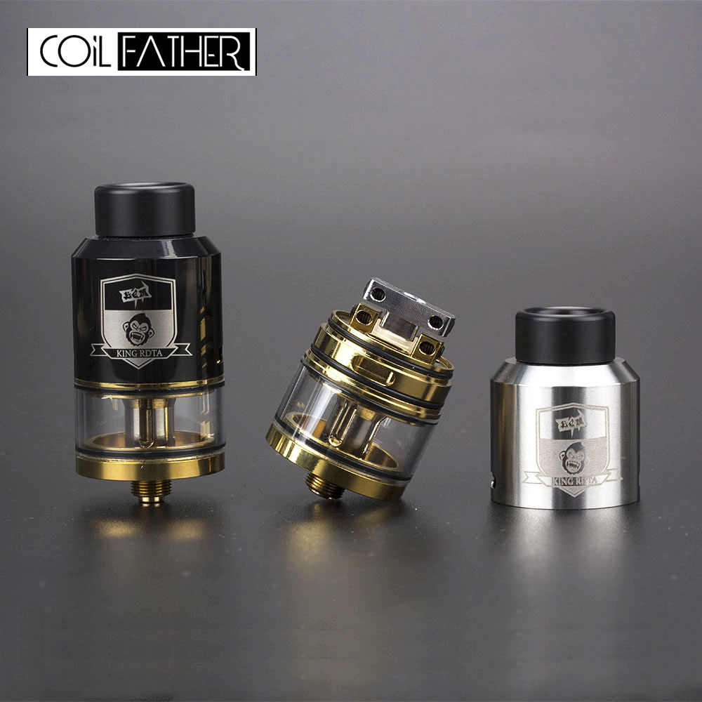 Coil Father King Style RTA RDA RDTA 3.5ml Capacity 25mm Diameter Tank For Vape Box Mod Electronic Cigarette Hookah Atomizer