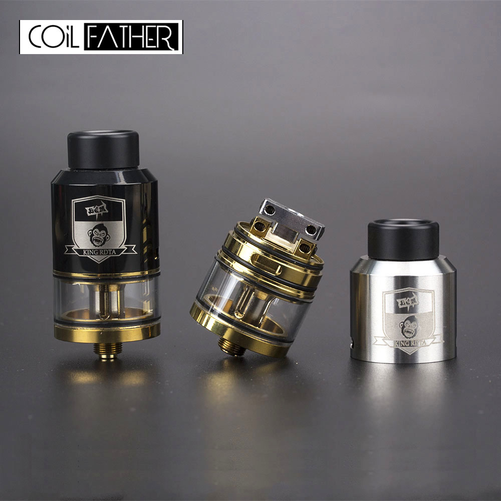 US $9 73 22% OFF Coil Father King Style RTA RDA RDTA 3 5ml Capacity 25mm  Diameter Tank For Vape Box Mod Electronic Cigarette Hookah Atomizer-in
