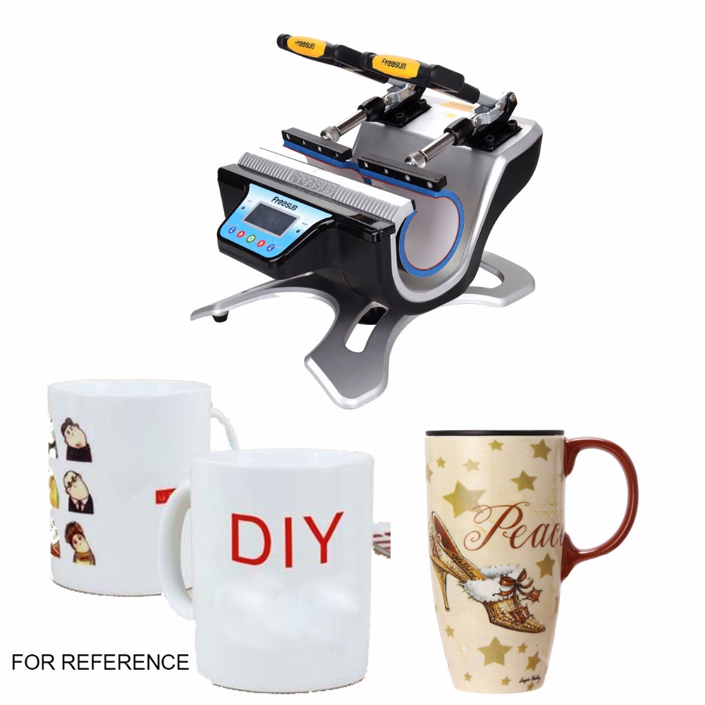 Shipping From Germany ! Double Station Mug heat press machine sublimation machine With sound alert Digital Mug Printer ship from germany 5 in 1 heat press machine swing away transfer t shirt sublimation mug hat plate