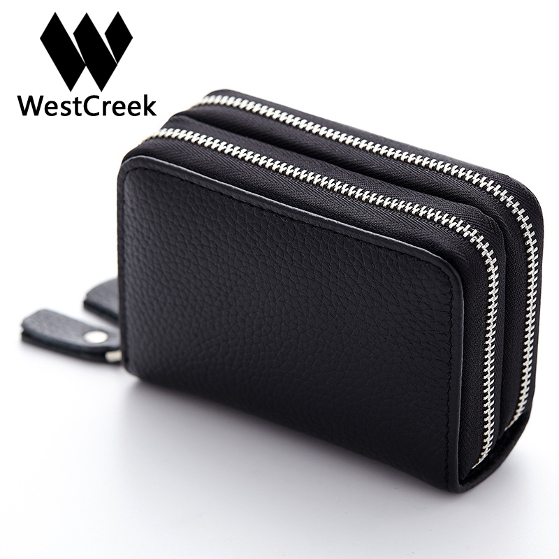 Made Of Genuine Leather Card Holder Wallet High Capacity