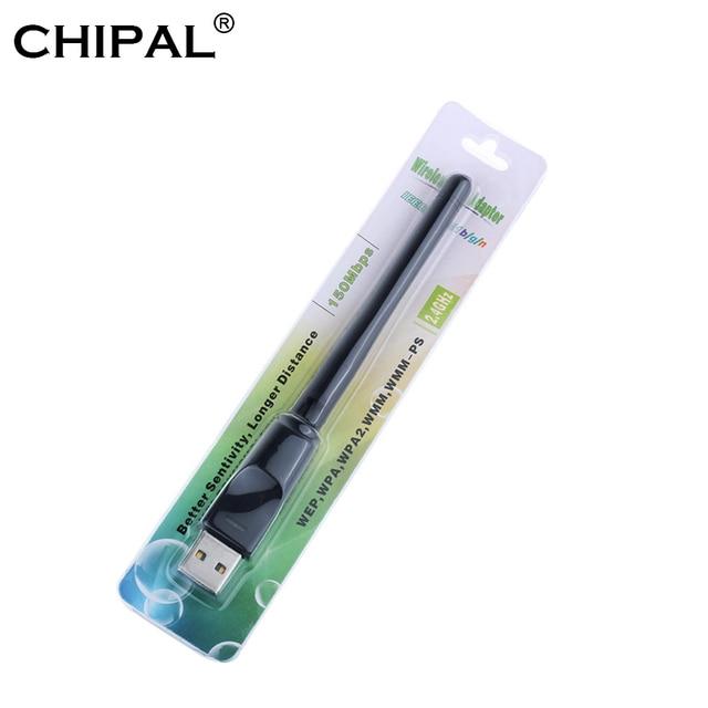 CHIPAL 150 Mbps אלחוטי כרטיס רשת מיני USB WiFi מתאם LAN Wi-Fi מקלט Dongle אנטנה 802.11 b/g/ n עבור מחשב Windows Mac