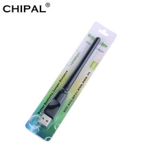 CHIPAL-tarjeta de red inalámbrica de 150Mbps, minireceptor LAN de adaptador WiFi USB, Wi-Fi, Dongle, antena 802,11 b/g/n para PC, Windows y Mac