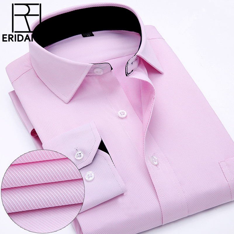 2016 Lelaki Formal Dress Shirt Spring New High Quality Cotton Long - Pakaian lelaki - Foto 1