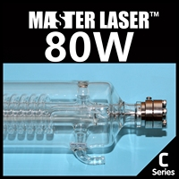 New Generation Mean Power 80W Highest Power 100W Laser Tube Length 1250mm Dia 80mm Lifetime 10000
