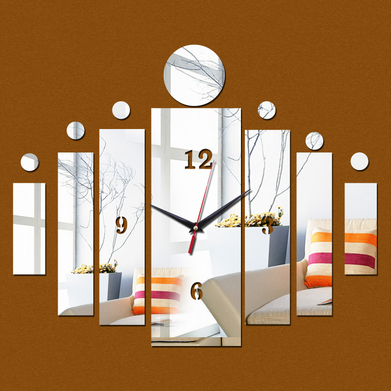 2017 hot mirror wall sticker 3d wall stickers home decor for 3d acrylic mirror wall sticker clock decoration decor