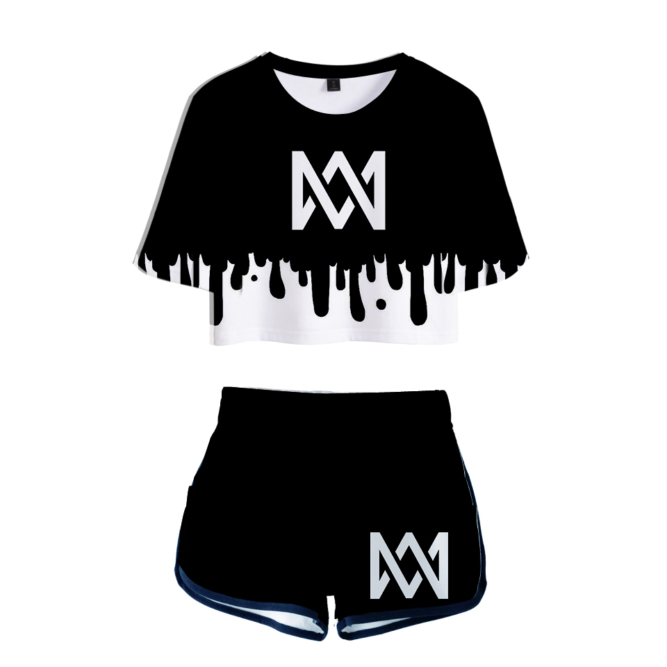 ac14ce9e157 KPOP Hot Women Two Piece Set Marcus & Martinus Tracksuit Women Top and  Pants Summer Outfits Set Plus Size Marcus Martinus Suit