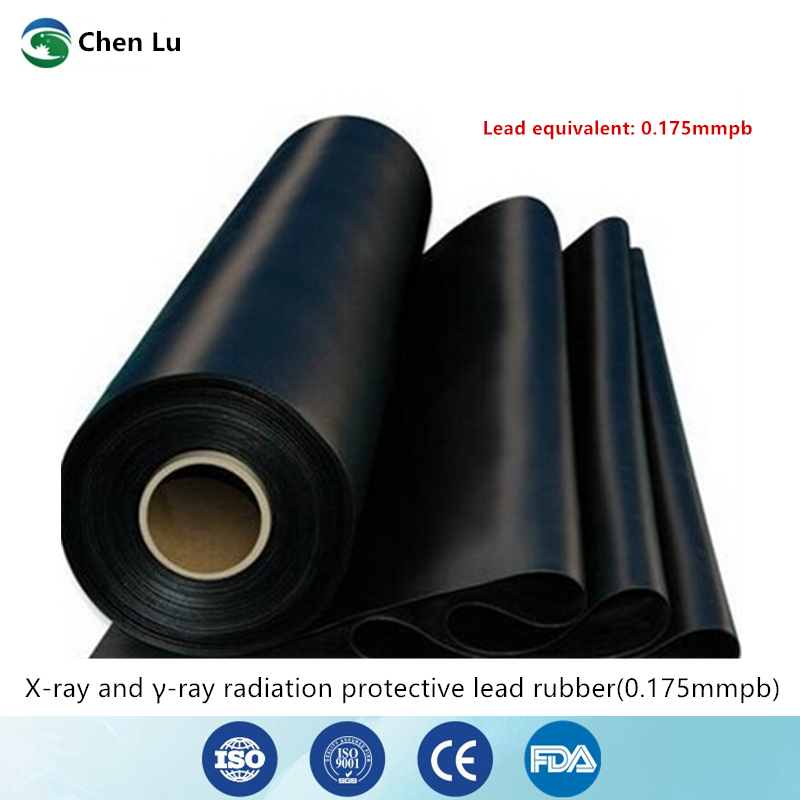 Подлинная защита от рентгеновских лучей 0,175 mmpb свинцовый резиновый материал для изготовления штор