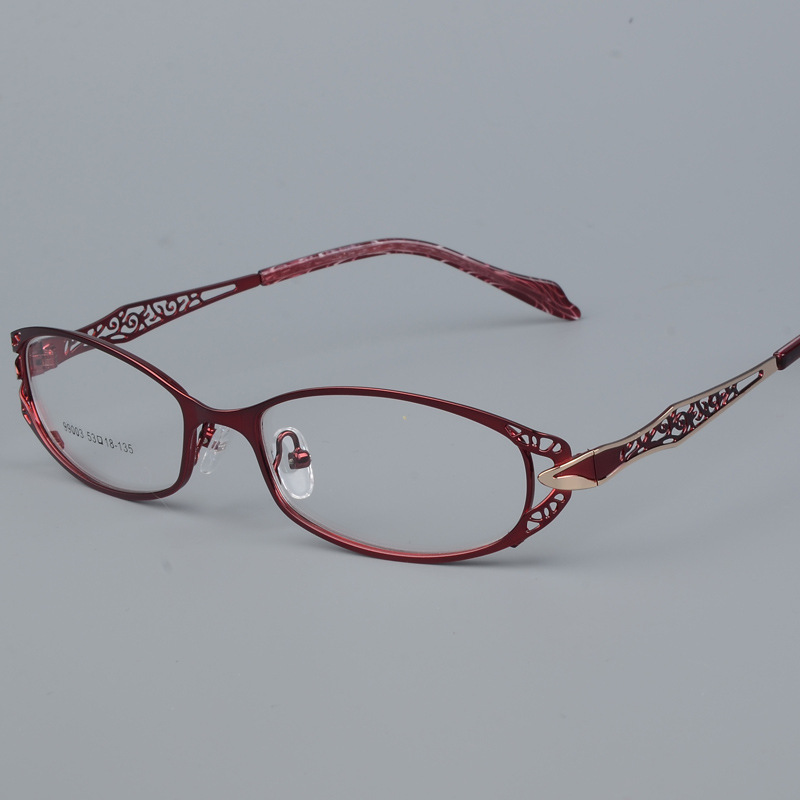High Quality Metal Full Frame Light Eyeglass Women Hollow Fashion Temperament Elegant Eyewear